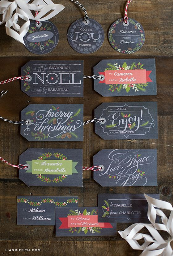 Christmas Tag Printables | The Everyday Home