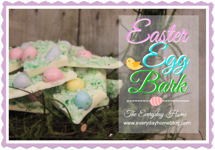 Easter Egg Candy Bark / The Everyday Home / www.everydayhomeblog.com