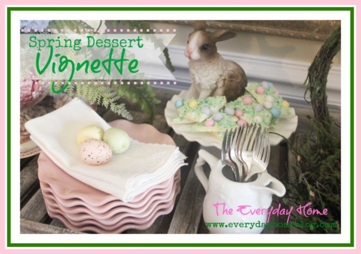 Easter Sunday Dessert Buffet Vignette / The Everyday Home / www.everydayhomeblog.com