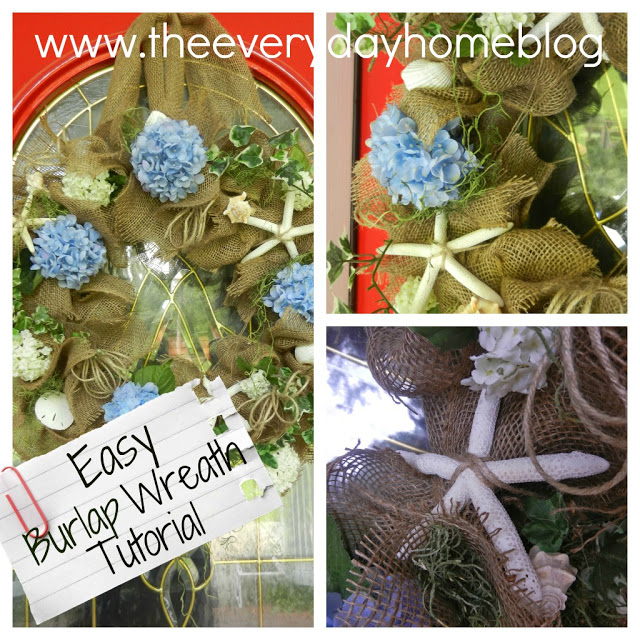Burlap Wreath Instructions by The Everyday Home #burlap #wreaths #crafts #DIY #michaels
