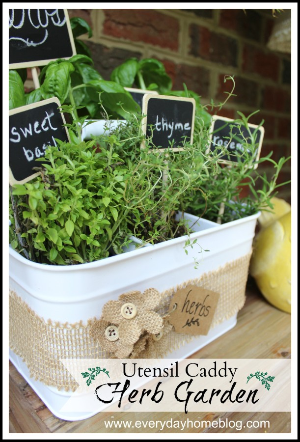 Utensil Caddy Herb Garden by The Everyday Home