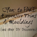 Mouldings and Trims [and amazing DIY discoveries}