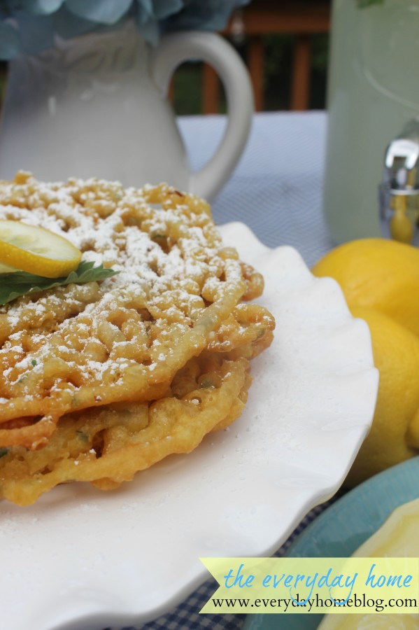Lemon-Mint Funnel Cake by The Everyday Home