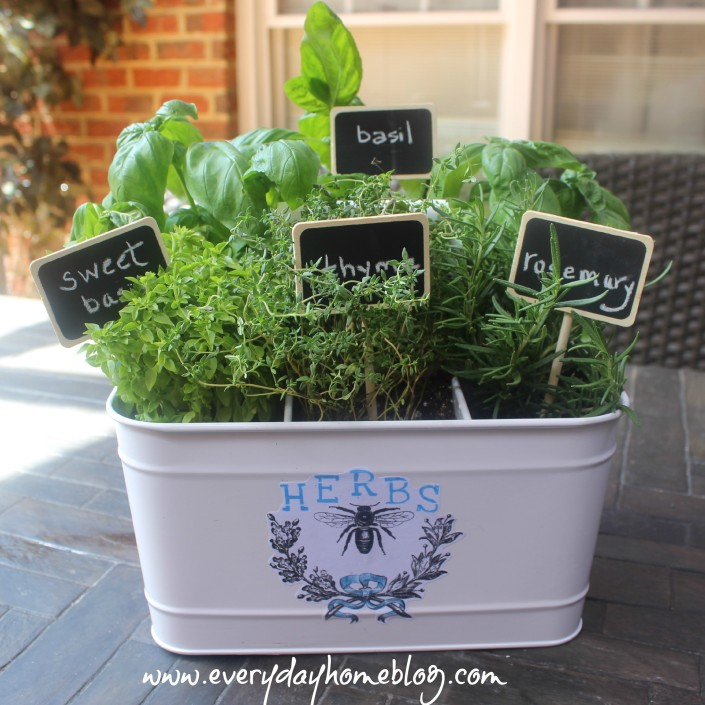 Decoupaged Herb Planter by The Everyday Home