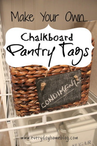 Make Your Own Chalkboard Tags