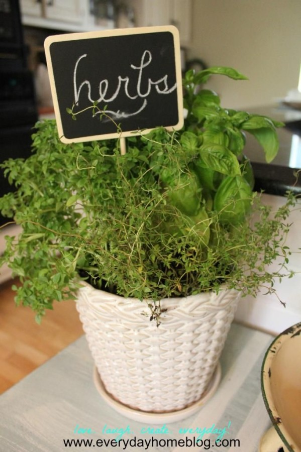 Decoupage Herb Planter by The Everyday Home