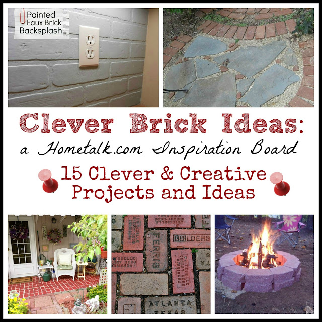 Clever brick ideas hometalk projects the everyday home for Diy brick projects