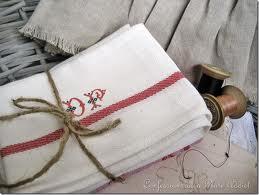 French Grain Sack Hand Towels