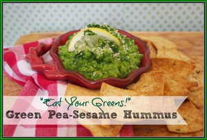 Green Pea-Sesame Hummus  {Tasty Tuesday)