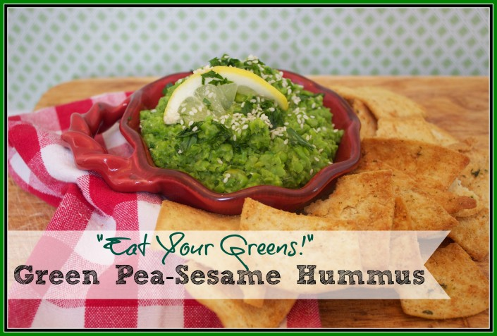 Green Pea-Sesame Hummus at The Everyday Home