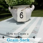 Paint a Grain Sack Table