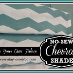 No-Sew Roman Shade