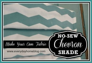No-Sew Roman Shade