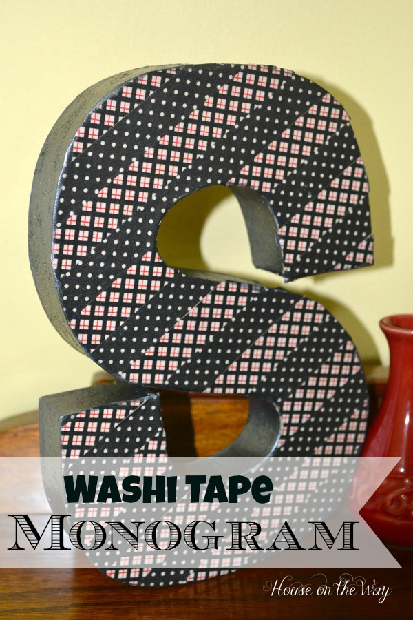 Washi Tape Initial at The Everyday Home