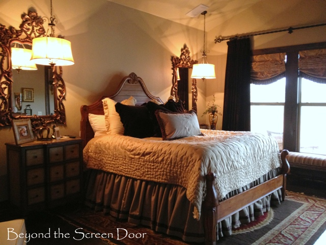 Brown Gold Cream Master Bedroom