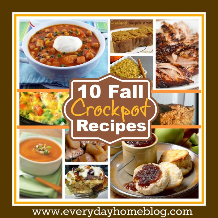 Ten Crockpot Recipes for Fall at The Everyday Home