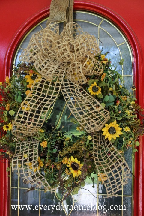 How to Make a Fall Wreath by The Everyday Home