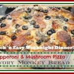 Pepperoni & Mushroom Pizza Monkey Bread
