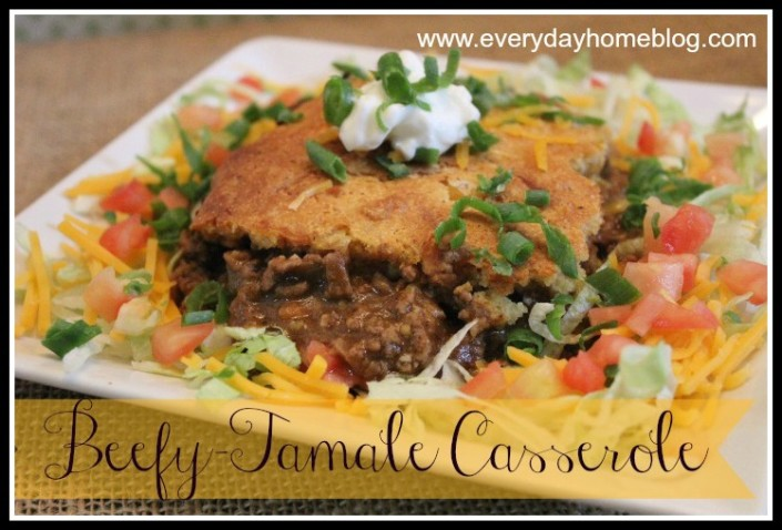 Beef Tamale Casserole by The Everyday Home