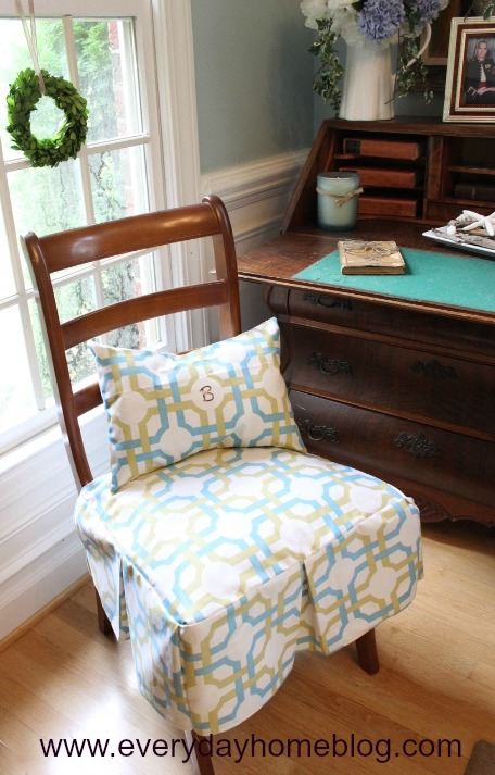 How To Make A Box Pleated Chair Skirt By The Everyday Home