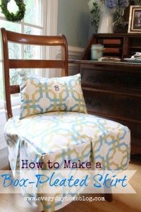 How to Make a Box-Pleated Chair Skirt