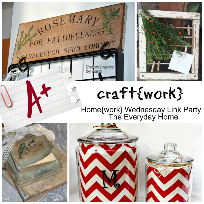 Home{work} Wednesday Link Party at The Everyday Home