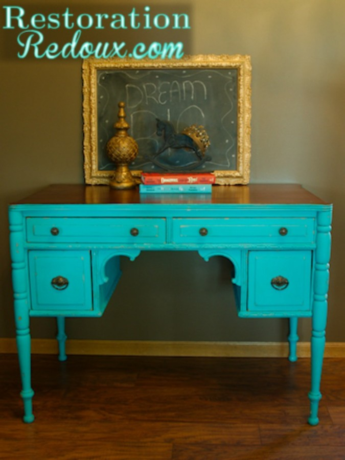 Desk Makeover at The Everyday Home