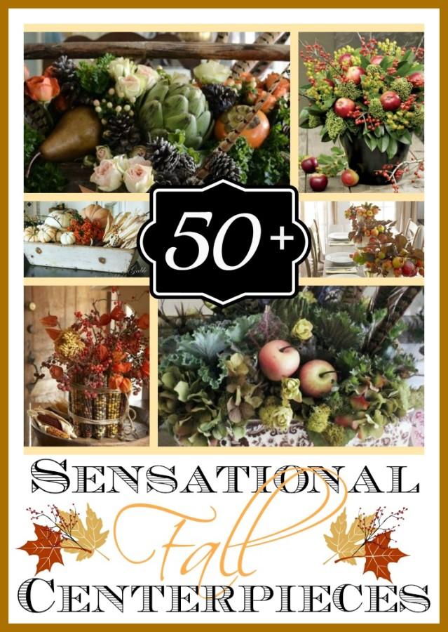 50 + Fabulous Fall Centerpieces and Arrangements   The Everyday Home   www.everydayhomeblog.com