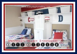 Pottery Barn-Inspired Boys Bedroom