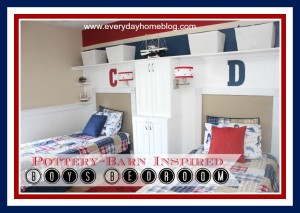 Pottery Barn-Inspired Boys Bedroom