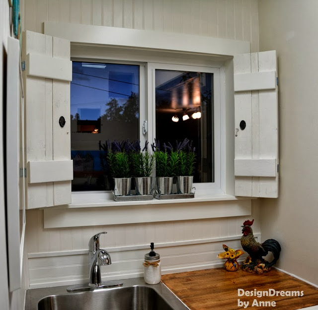 DIY Hinged Shutters by Designs by Anne at The Everyday Home