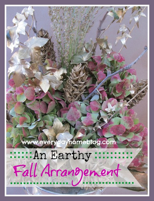 How to Create an Earthy Fall Arrangement at The Everyday Home