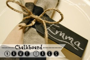 Chalkboard Placesetting Tags