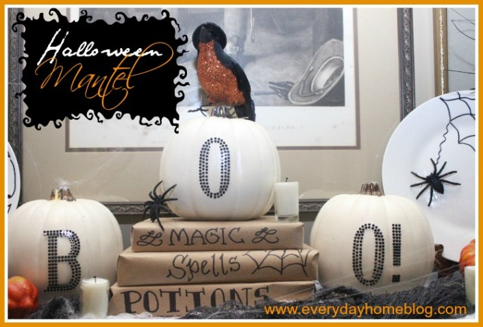 Halloween Mantel at The Everyday Home