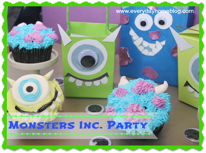 Monsters Inc Halloween Party Bags