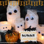 Mason Jar Mummy Lanterns