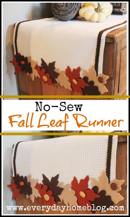 No Sew Fall Leaf Runner | The Everyday Home | www.everydayhomeblog.com