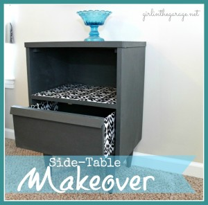 Side Table Makeover {guest post}