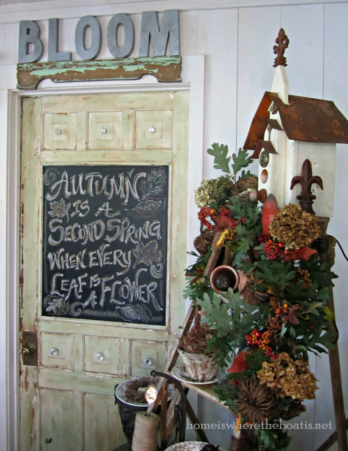 Fall Chalkboard Door by Home Is Where the Boat Is at The Everyday Home