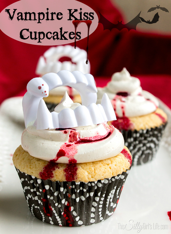 Vampire's Kiss Cupcakes by This Silly Girl's Life at The Everyday Home
