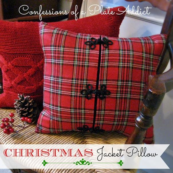 Christmas Jacket Pillow by Confessions of a Plate Addict