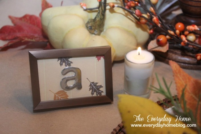 Easy DIY Monogram Placecard by The Everyday Home