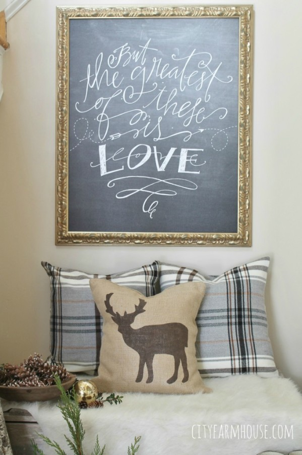 Farmhouse Friday: A Farmhouse Christmas featuring over 30 Ideas at The Everyday Home