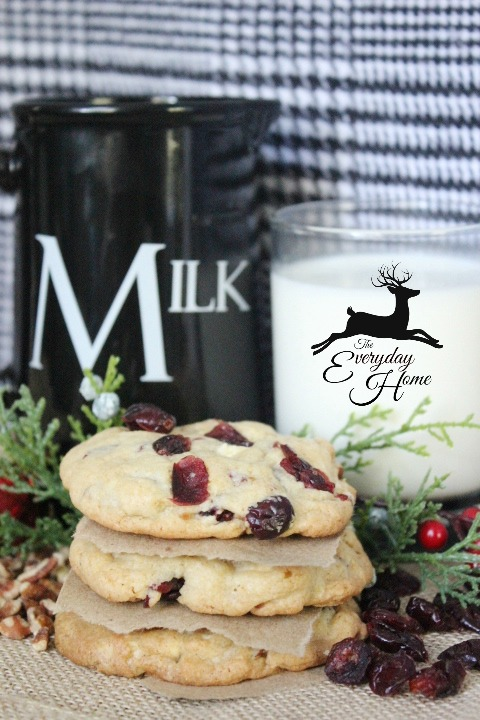Cranberry-Pecan-White Chocolate Chunk Cookies at The Everyday Home