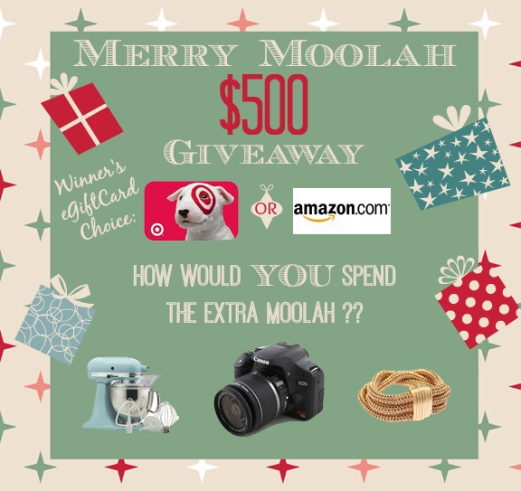 Merry Moolah $500 Giveaway at The Everyday Home