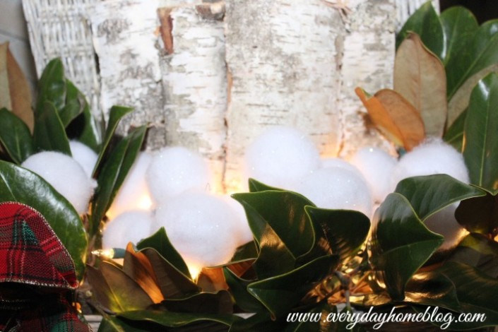 Lighted Birch Log Basket by The Everyday Home