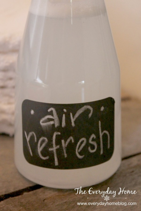"Recipes for Homemade Fabric Softener and ""Febreze"" Air Freshener by The Everyday Home  #DollarStore #homemadeproducts  #goinggreen"