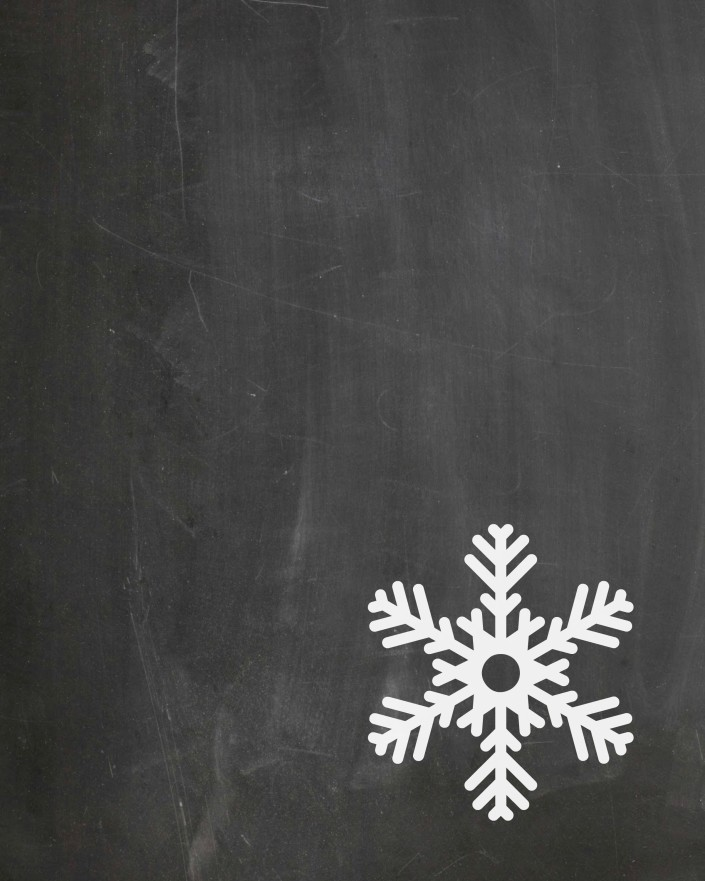"""Snowflake2"" - FREE Chalkboard Printable by The Everyday Home Blog"