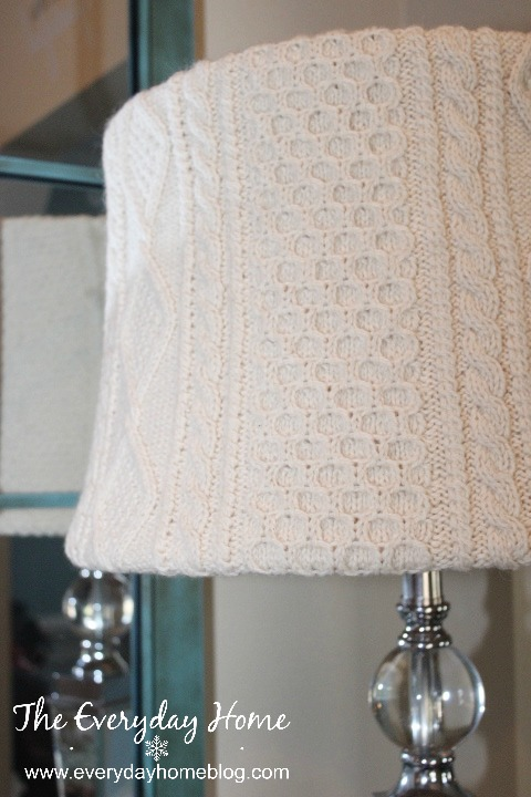 No Sew Sweater Lampshade by The Everyday Home