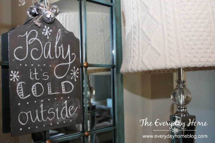 A Winter Foyer Makeover with Four DIY Winter Projects by The Everyday Home